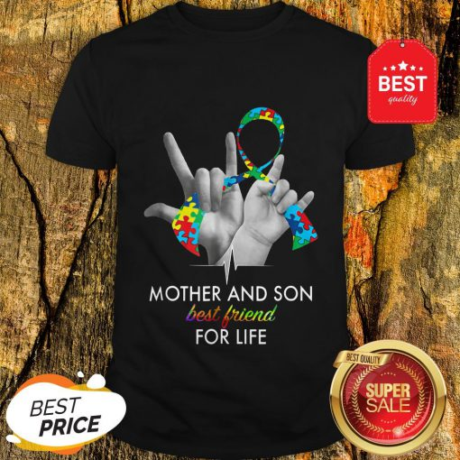 Autism Awareness Mother And Son Best Friends For Life Shirt