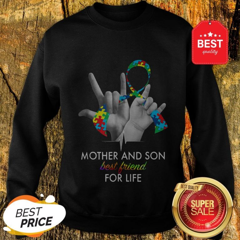 Autism Awareness Mother And Son Best Friends For Life Sweatshirt