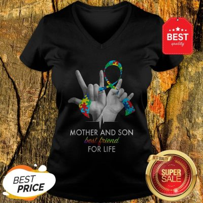 Autism Awareness Mother And Son Best Friends For Life V-neck