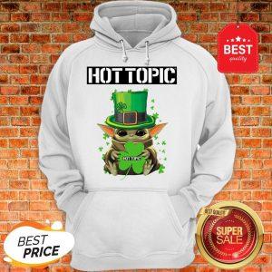 Baby Yoda Hug Hottopic Shamrock St Patrick's Day Star Wars Hoodie
