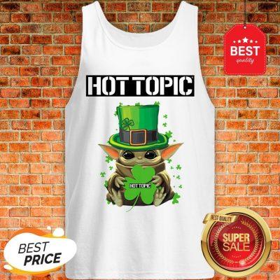 Baby Yoda Hug Hottopic Shamrock St Patrick's Day Star Wars Tank Top