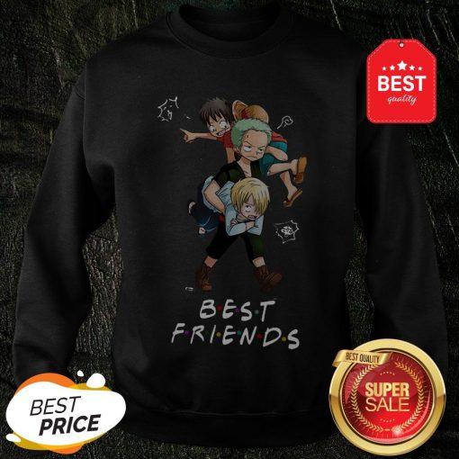 Best Friends Monkey D. Luffy Roronoa Zoro Sanji One Piece Sweatshirt
