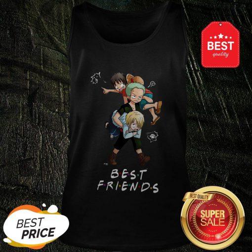 Best Friends Monkey D. Luffy Roronoa Zoro Sanji One Piece Tank Top
