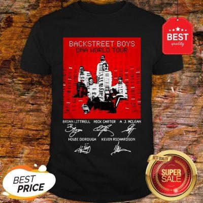 BSB Backstreet Boys DNA World Tour Signatures Shirt