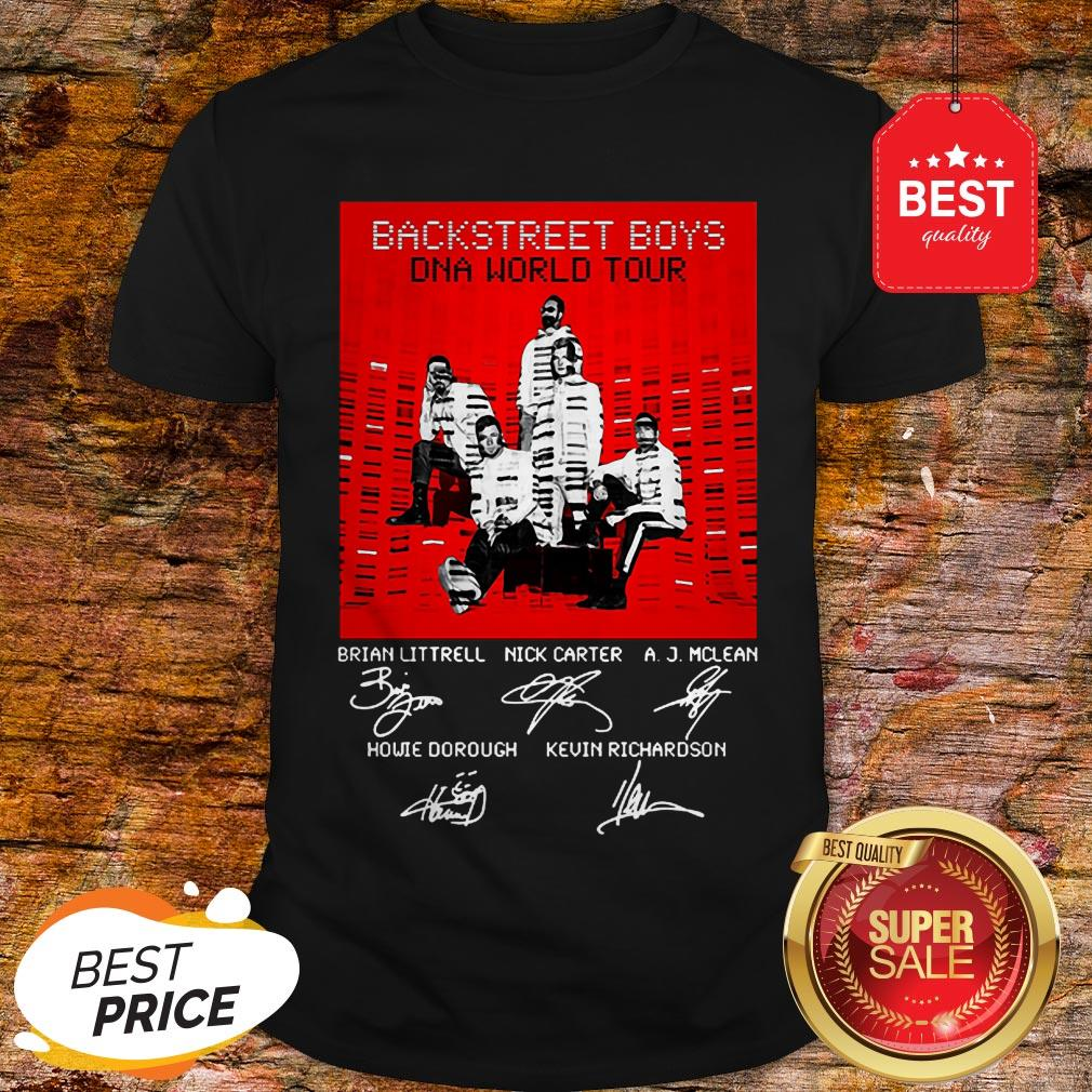 BSB Backstreet Boys DNA World Tour Signatures Shirt