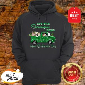 Corgi Let The Shenanigans Begin Truck Happy St. Patrick's Day Hoodie