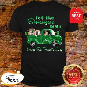 Corgi Let The Shenanigans Begin Truck Happy St. Patrick's Day Shirt