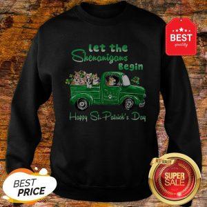 Corgi Let The Shenanigans Begin Truck Happy St. Patrick's Day Sweatshirt