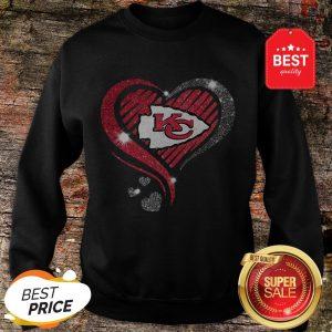 Diamond Heart Love Kansas City Chiefs Super Bowl Champions Sweatshirt