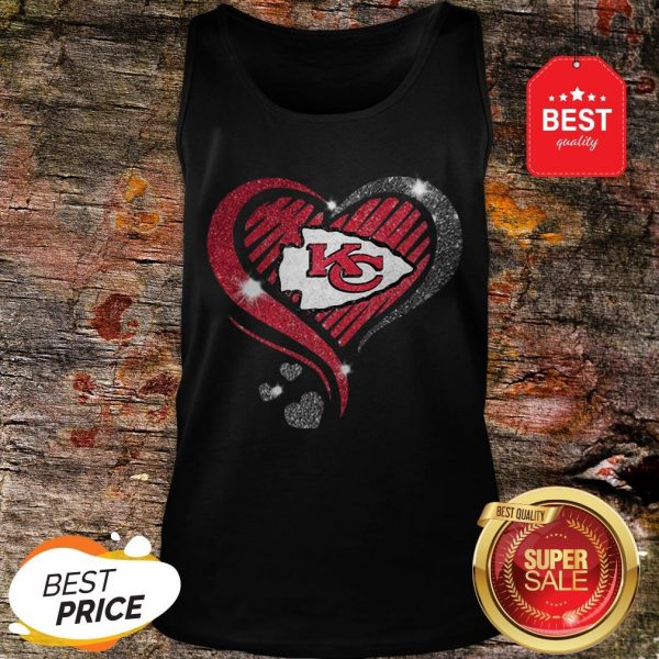 Diamond Heart Love Kansas City Chiefs Super Bowl Champions Tank Top