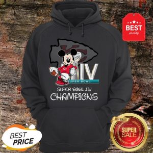 Disney Mickey Kansas City Chiefs Super Bowl Liv Champions Hoodie