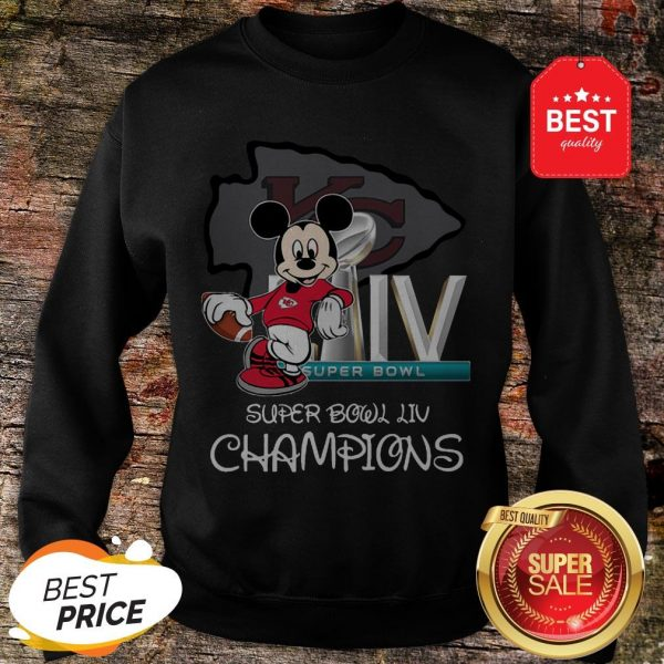 Disney Mickey Kansas City Chiefs Super Bowl Liv Champions Sweatshirt