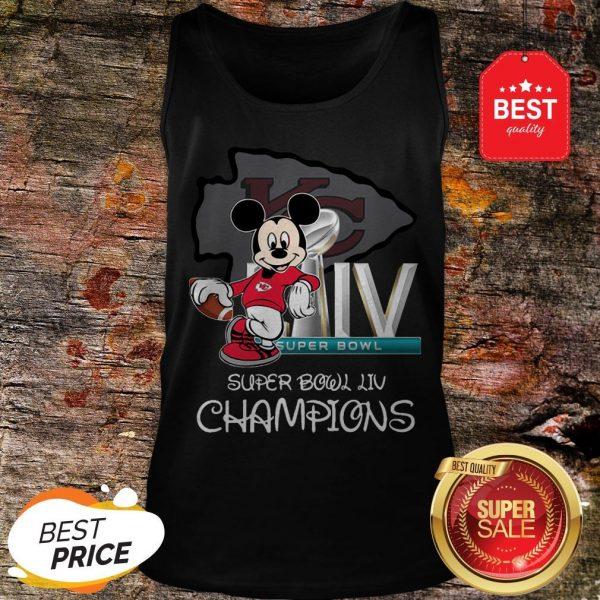 Disney Mickey Kansas City Chiefs Super Bowl Liv Champions Tank Top