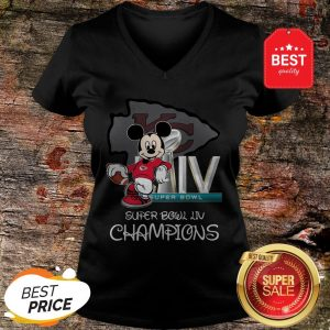 Disney Mickey Kansas City Chiefs Super Bowl Liv Champions V-neck
