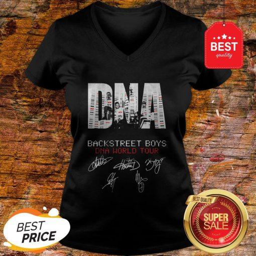 DNA Backstreet Boys DNA World Tour Signatures Autographed V-neck