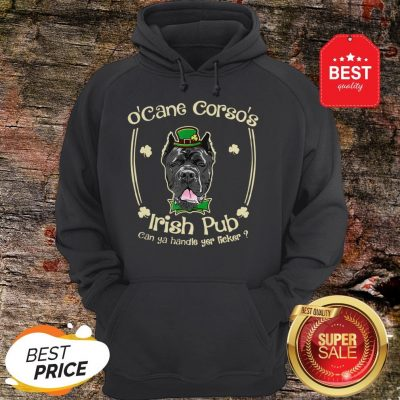 Funny St Patricks Day Cane-Corso Dog Lover Mom Dad Men Women Hoodie