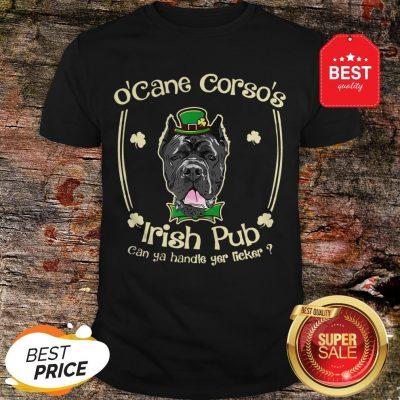 Funny St Patricks Day Cane-Corso Dog Lover Mom Dad Men Women Shirt