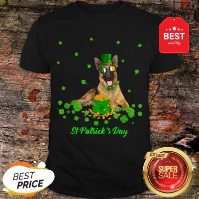 German Shepherd Dog St Patricks Day Leprechaun Dog Shirt