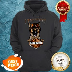 German Shepherd Mashup Motor Harley Davidson Company Hoodie