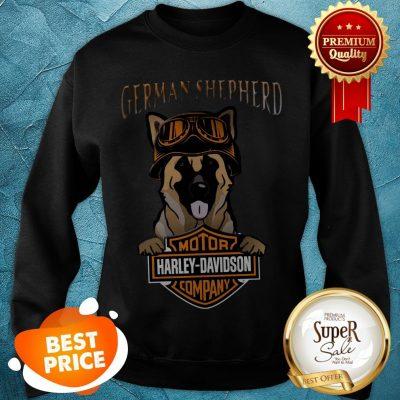 German Shepherd Mashup Motor Harley Davidson Company Sweatshirt