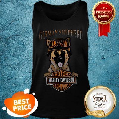 German Shepherd Mashup Motor Harley Davidson Company Tank Top