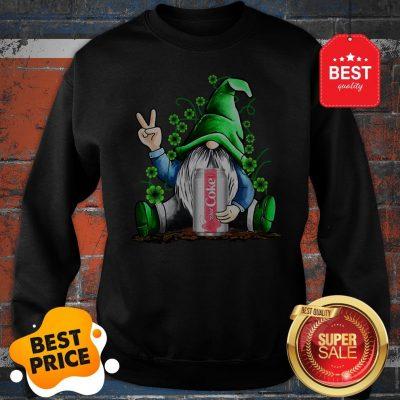 Gnome Hold Diet Coke Irish Shamrock St. Patrick's Day Sweatshirt