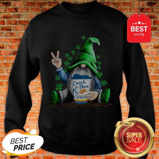 Gnome Hug Dutch Bros Coffee Irish St. Patrick's Day Sweatshirt