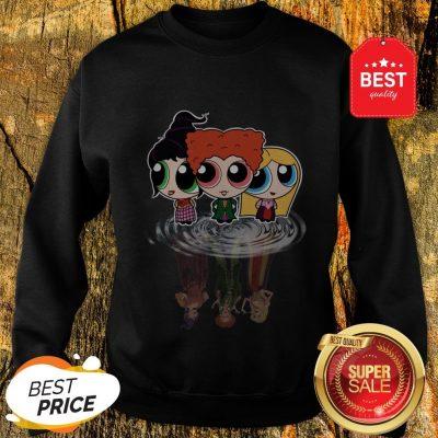 Hocus Pocus Characters Chibi Reflection Water Mirror Disney Sweatshirt