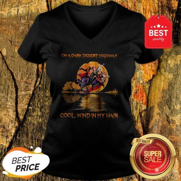 Hocus Pocus On A Dark Desert Highway Cool Wind In My Hair Guitar Lake V-neck