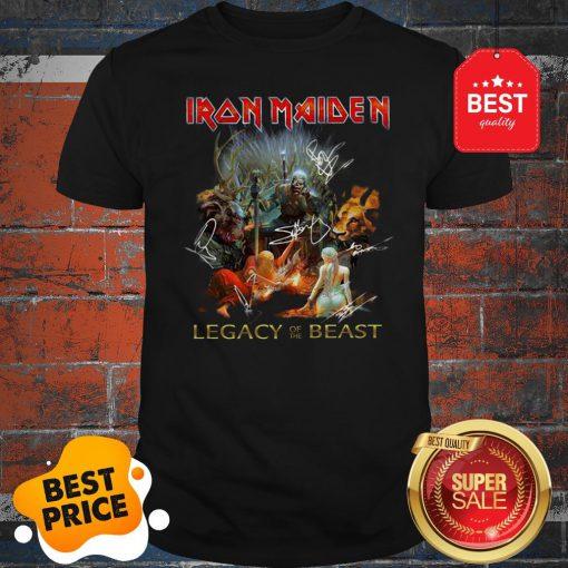 Iron Maiden Mashup Legacy Of The Beast Signatures Shirt