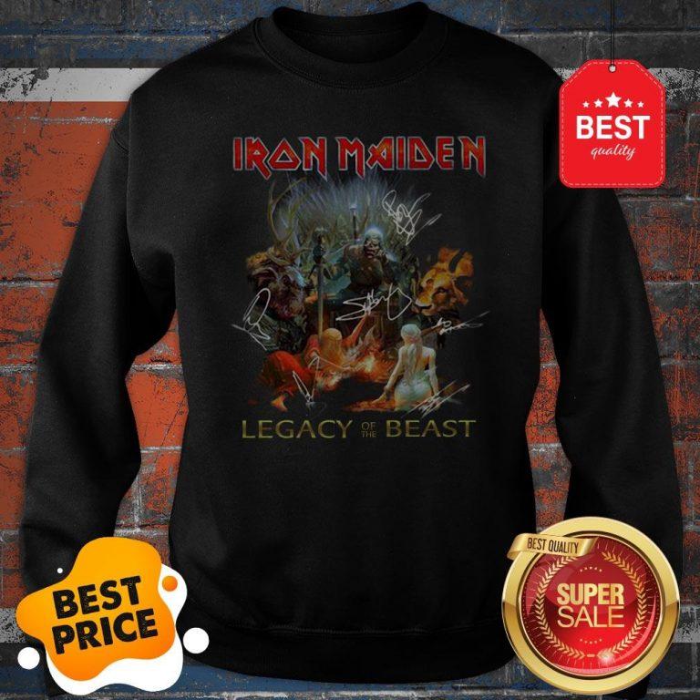 Iron Maiden Mashup Legacy Of The Beast Signatures Sweatshirt