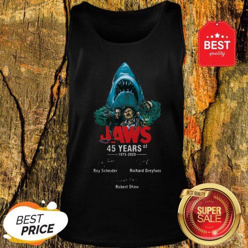 Jaws 45 Years Of 1975 2020 Signatures Roy Scheider Robert Shaw Tank Top