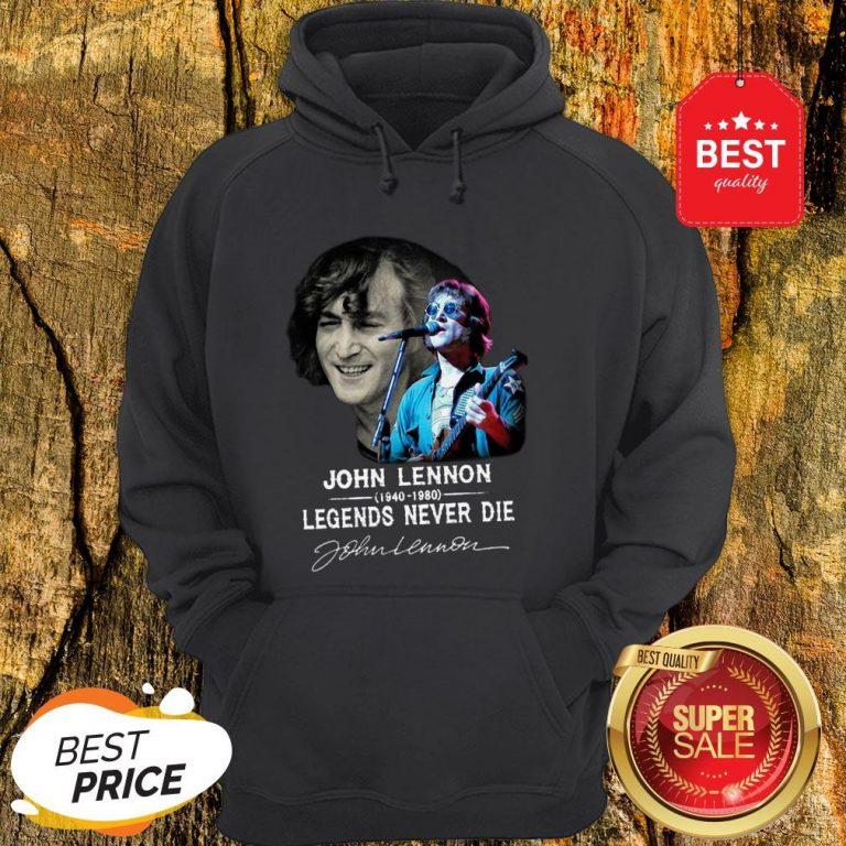 John Lennon 1940-1980 Legends Never Die Signature Autographed Hoodie