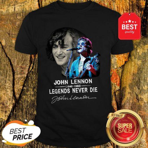 John Lennon 1940-1980 Legends Never Die Signature Autographed Shirt