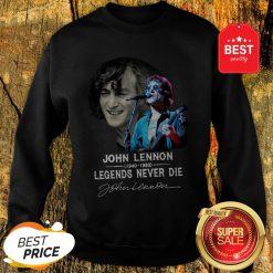 John Lennon 1940-1980 Legends Never Die Signature Autographed Sweatshirt