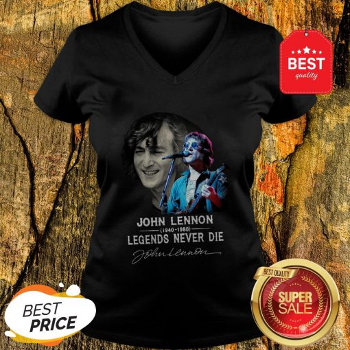 John Lennon 1940-1980 Legends Never Die Signature Autographed V-neck
