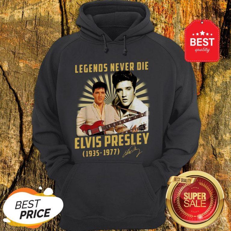 Legends Never Die Elvis Presley 1935 1977 Signature Autographed Hoodie