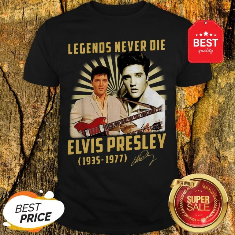 Legends Never Die Elvis Presley 1935 1977 Signature Autographed Shirt