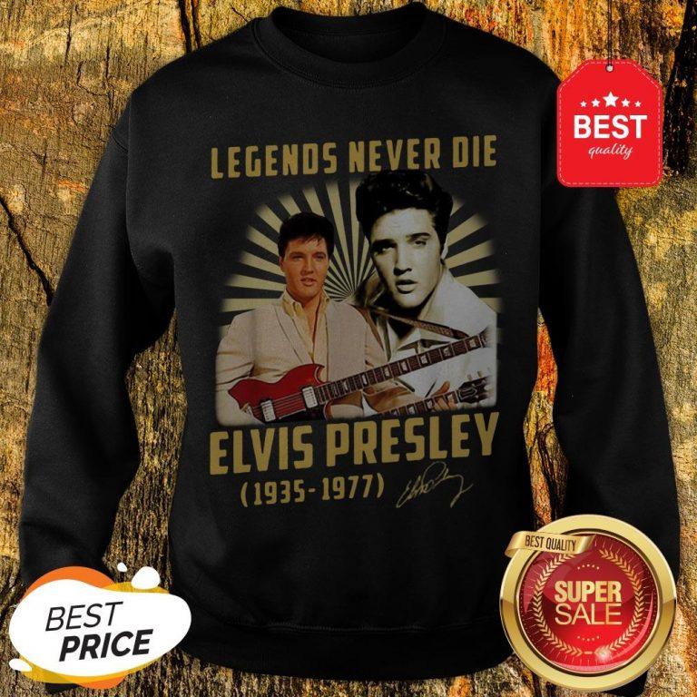 Legends Never Die Elvis Presley 1935 1977 Signature Autographed Sweatshirt