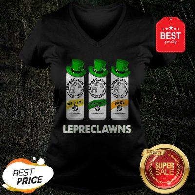 Lepreclawns Pot O' Gold Shamrock Lucky St Patrick's Day V-neck
