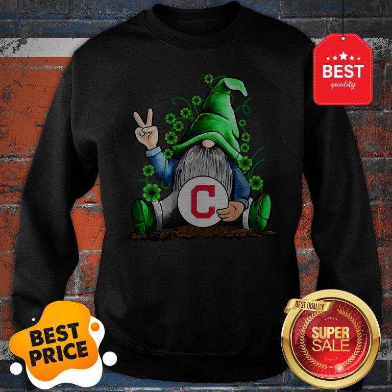 MLB Gnomes Lucky Hug Cleveland Indians Baseball Sweatshirt