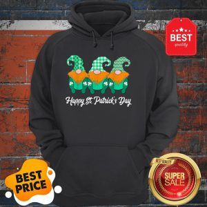 Nice 3 Cute Irish Gnomes Leprechauns Happy St. Patrick's Day V-neck