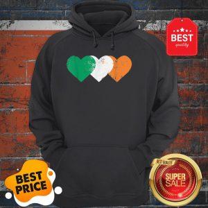 Nice 3 Hearts Ireland Flag TShirt St. Patricks Day Irish Flags Hoodie