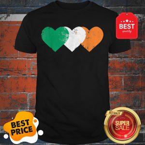 Nice 3 Hearts Ireland Flag TShirt St. Patricks Day Irish Flags Shirt