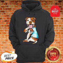 Nice American Staffordshire Terrier I Love Mom Tattoos Hoodie