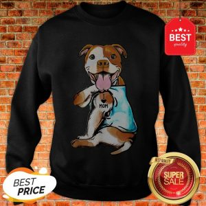 Nice American Staffordshire Terrier I Love Mom Tattoos Sweatshirt