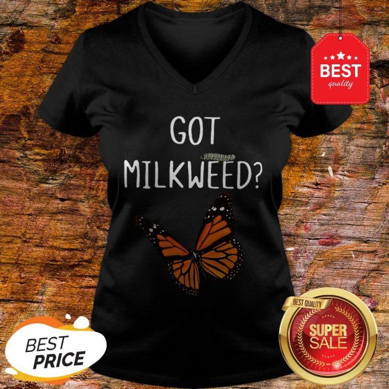 Nice Butterfly Got Milkweed V-neck