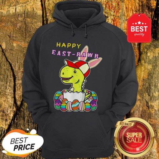 Nice Dinosaur Boy Happy East-Rawr Hoodie