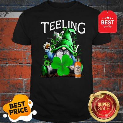 Nice Gnome Drinking Teeling Whiskey St Paddy's Day Shirt