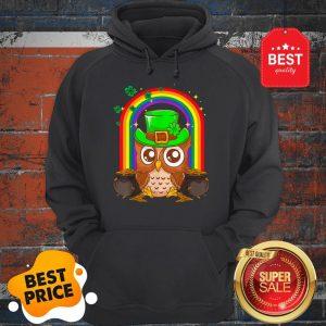 Nice Irish Leprechaun Owl Funny St. Patrick's Day Hoodie
